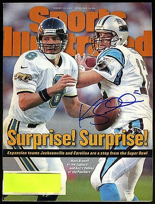 Kerry Collins autograph signed 1/13/1997 Sports Illustrated magazine PANTHERS