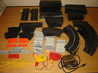 Large Lot of Slot Car Track & Accessories