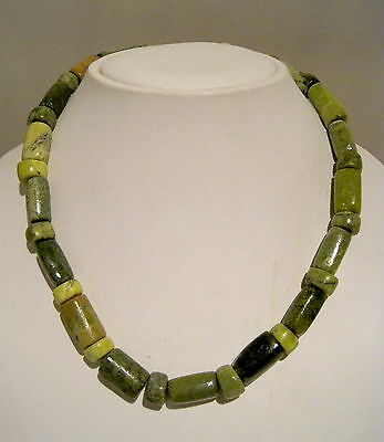 MAGNIFICENT Vintage CONNEMARA MARBLE GEMSTONE BEAD Celtic NECKLACE  97.80g 19""