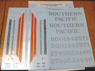 Microscale Decal #32-1 Southern Pacific  GP-9 Passenger Diesels Black Window