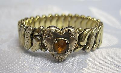 Antique Co-Star GF Sterling Base Heart Rhinestone Expansion Small Baby Bracelet