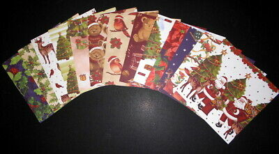 "*NOSTALGIC CHRISTMAS*   Scrapbooking/Cardmaking Papers  *15cm x 15cm (6"" x 6"")"