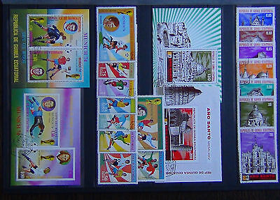 Equatorial Guinea 1974 World Cup 1975 Cathedrals set + Miniature sheets VFU