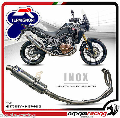 Implant Exhaust tube Termignoni CRF 1000 Africa Twin 16   H137080TV+H13709410
