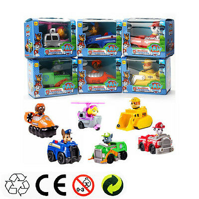 KIDS XMAS GIFT  PAW PATROL COMPLETE SET of 6 Racer Pups Characters Figures toys