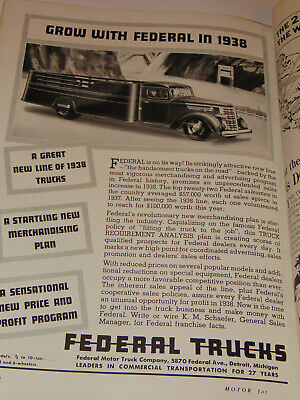 Vintage  1938 'Motor' Magazine! Service Stations Trade Publication! Ads/Articles