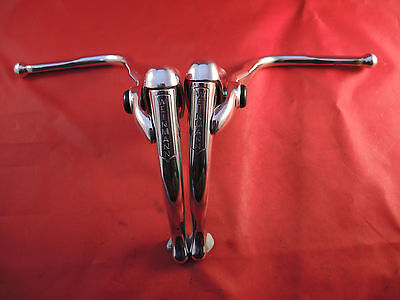 CLASSIC  WEINMANN SAFETY DROP BAR ALLOY BRAKE LEVERS 1980`s - BRIGHT  POLISHED!