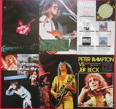 45Page! Peter Frampton Vs Jeff Beck 1977 Clipping Japan Magazine Tm 10A