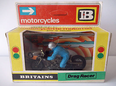 Britains Drag Racer Motorcycle Boxed. Cat No-9683