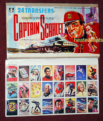 1967 CAPTAIN SCARLET TRANSFERS + ORIGINAL HEADER *  Gerry Anderson Shop Display