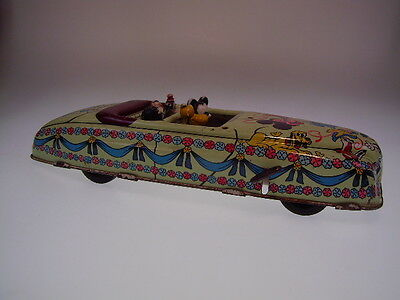 "GSPKW GSC ""DISNEY CABRIOLET (1)"" MARX USA, 29cm, WIND UP OK, ALL FIGURES, USED !"