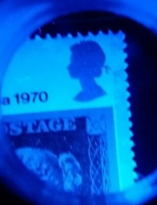 GB QEII ~ 1970 ~ SG 835 ~ Phosphor ERROR Omitted At Top & Wide & Narrow Band