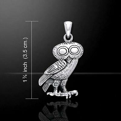 Greek Owl Athena Sterling Silver Pendant - Inspired by Ancient Greek art
