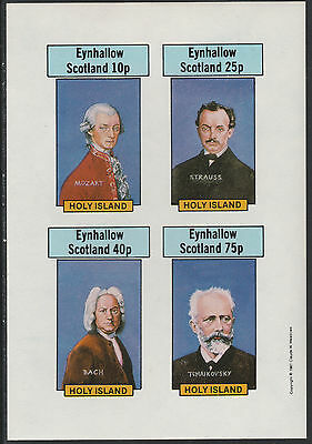 GB Locals - Eynhallow (1358) 1981 COMPOSERS imperf sheet unmounted mint