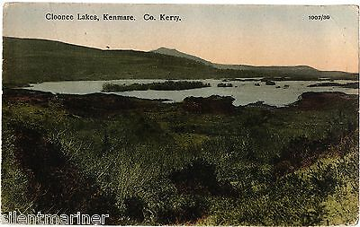 Cloonee Lakes, Kenmare, Co. Kerry, old coloured postcard, unposted