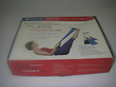 Exercise Fitness Gaiam Pilates BodyBand Kit Resistance Workout Bands Video