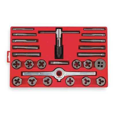 VERMONT AMERICAN 21768 Tap and Die Set, 5/16 to 1/2 In, 25 pc