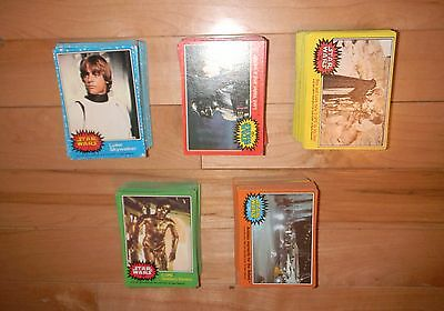 1977 Topps Star Wars Series 1-5 Complete 330 Trading Card Set EX+