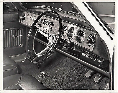 Ford New Luxury For Corsair 2000 De Luxe, Dashboard, Period Photograph.
