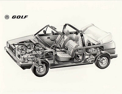 Volkswagen Golf Convertible, Photograph.