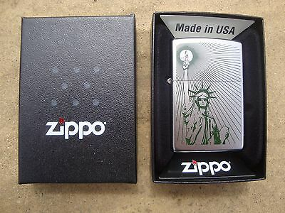 Zippo Lighter ...(2016) ...statue Of Liberty.. Brand New ... Free Postage