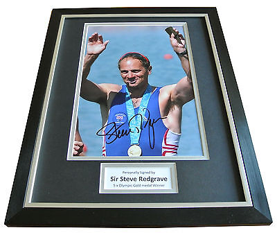 Sir Steve Redgrave Signed FRAMED Photo Autograph 16x12 Display Olympics & COA