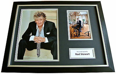 ROD STEWART Signed FRAMED Photo Autograph 16x12 Display Music Maggie May & COA