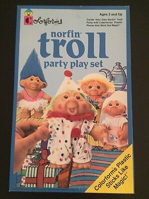 1992 Norfin TROLL Colorforms Party Play Sticker Set