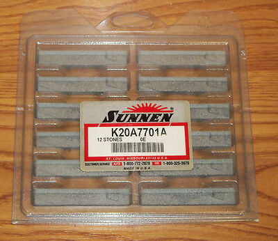 NEW Sealed BOX of 12 SUNNEN HONING STONES K20A7701A 320 grit stones w/ hard tip
