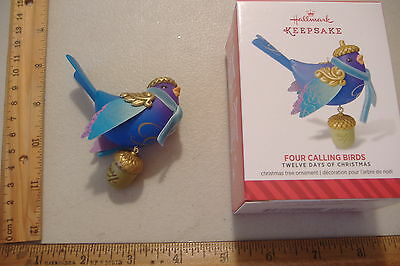 ~4 Calling Birds~4Th In The 12 Days Of Christmas Series~2014 Hallmark Ornament~