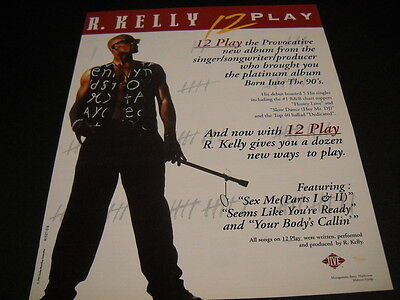 R. KELLY 12 Play the provocative new album 1993 PROMO POSTER AD mint condition