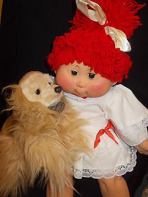 DARLING Little Girl BB Doll Red Hair made in SPAIN ORIGINAL Clothes RARE