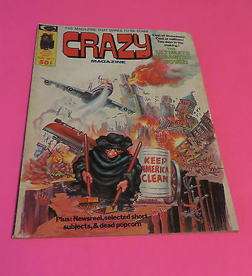 1975 Crazy Magazine #11 Satire Keep America Clean The Ultimate Disaster Movie