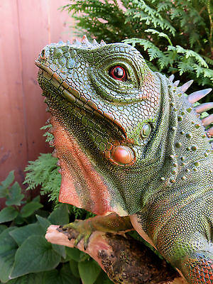 Green Iguana Lizard Figurine Home Yard Decor Garden Resin New Mexico