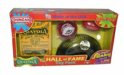 Hall Of Fame Toy Pack Silly Putty Slinky Duncan Yo Yo Crayola Classic Retro NEW