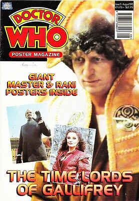 Marvel DR DOCTOR WHO POSTER MAGAZINE Issue 5 TIME LORDS August 1995 - VERY RARE
