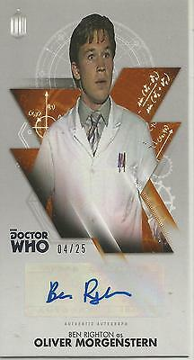 TOPPS DR. WHO THE TENTH DOCTOR ADVENTURES autograph card - BEN RIGHTON #04/25