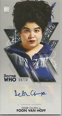 TOPPS DR. WHO THE TENTH DOCTOR ADVENTURES autograph card -DEBBIE CHAZEN #08/10
