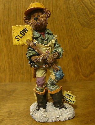 Boyds Folkstones #2885 JACK HAMMER...HARD HAT,  From Retail Store, Construction