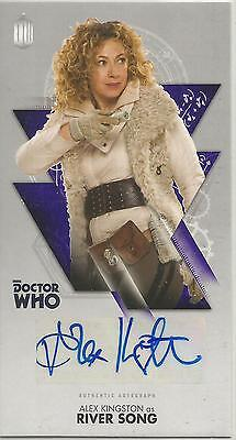 TOPPS DR. WHO THE TENTH DOCTOR ADVENTURES autograph trading card - ALEX KINGSTON