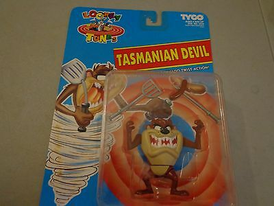 Looney Tunes Tyco Tasmanian Devil with Super Spin Tornado Twist Action Figure