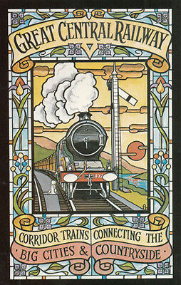 Great Central Railway New Corridor Trains Travel Trips Old Poster Postcard
