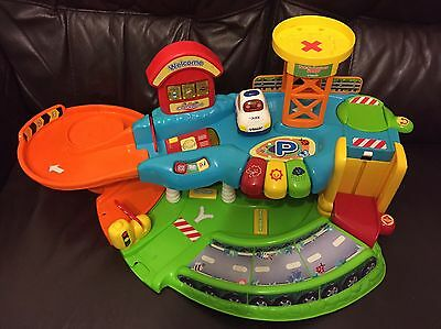 Vtech Toot Toot Garage With A Police Car Excellent Condition