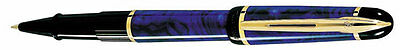 Waterman Phileas  Marble Blue &  Gold   Rollerball Pen   New In Box