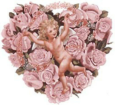 PinK RoSe CHeRuBs HeaRTs ShaBbY WaTerSLiDe DeCaLs ~FuRNiTuRe SiZe~