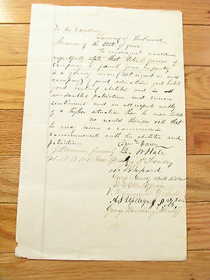 Iowa Civil War Soldier Promotion Petition To Governor Kirkwood
