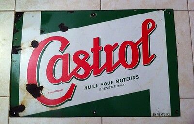 ancienne plaque maill e castrol e a s vintage garage eur 229 00 picclick fr. Black Bedroom Furniture Sets. Home Design Ideas