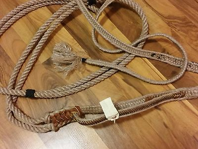 Qualifier bullrope-choice of right or left-bullriding-9 plait handhold + Tail-