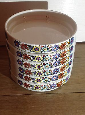 6 X Lord Nelson Pottery Gaytime Shallow Bowls