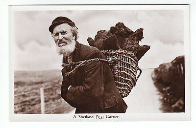 A Shetland Peat Carrier Real Photograph Prob. Sinclair Lerwick Published c1930's
